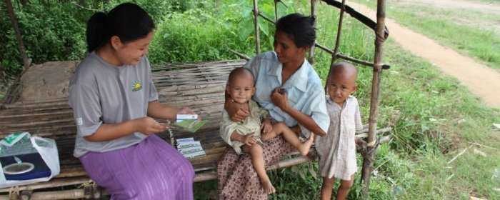 Myanmar village community health worker